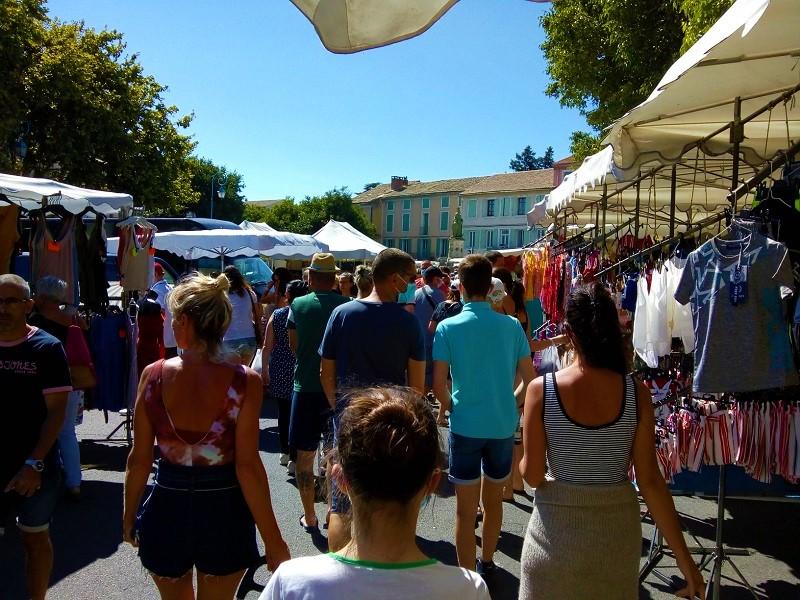 markt in Zuid-Frankrijk vakantieverhuur