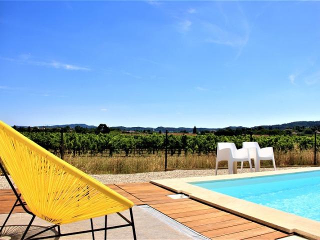 wijngaard Côtes du Rhône wijn