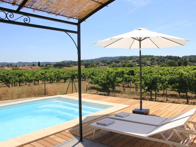 vakantievilla zicht op wijngaard